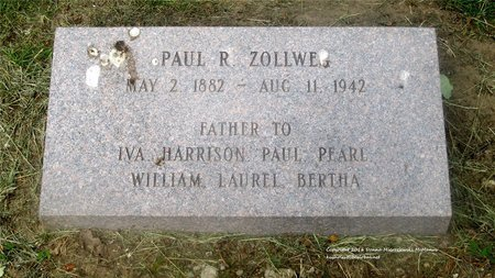 ZOLLWEG, PAUL R. - Lucas County, Ohio | PAUL R. ZOLLWEG - Ohio Gravestone Photos