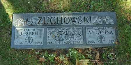 ZUCHOWSKI, WALTER J. - Lucas County, Ohio | WALTER J. ZUCHOWSKI - Ohio Gravestone Photos