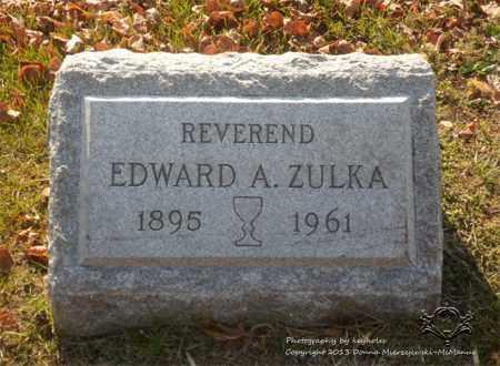ZULKA, EDWARD A. - Lucas County, Ohio | EDWARD A. ZULKA - Ohio Gravestone Photos
