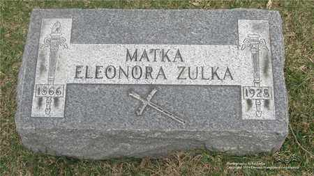 ZULKA, ELEONORA - Lucas County, Ohio | ELEONORA ZULKA - Ohio Gravestone Photos