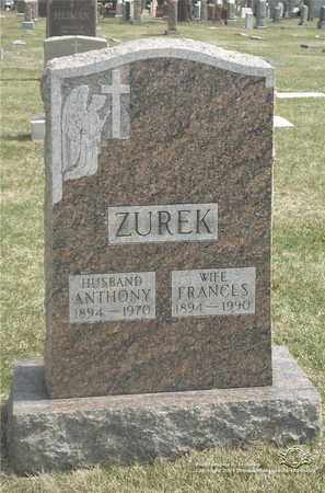 ZUREK, FRANCES - Lucas County, Ohio | FRANCES ZUREK - Ohio Gravestone Photos
