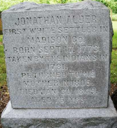 ALDER, JONATHAN - Madison County, Ohio   JONATHAN ALDER - Ohio Gravestone Photos