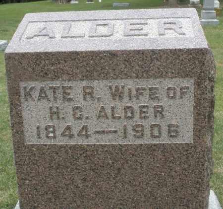 ALDER, KATE R. - Madison County, Ohio | KATE R. ALDER - Ohio Gravestone Photos