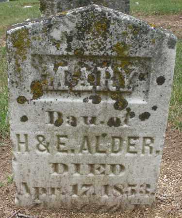 ALDER, MARY - Madison County, Ohio   MARY ALDER - Ohio Gravestone Photos