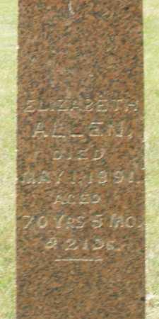 ALLEN, ELIZABETH - Madison County, Ohio   ELIZABETH ALLEN - Ohio Gravestone Photos