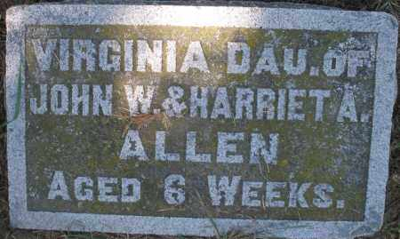 ALLEN, VIRGINIA - Madison County, Ohio | VIRGINIA ALLEN - Ohio Gravestone Photos