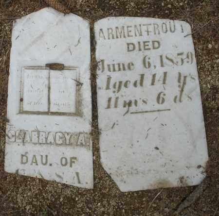 ARMENTROUT, SLARRACY A. - Madison County, Ohio   SLARRACY A. ARMENTROUT - Ohio Gravestone Photos