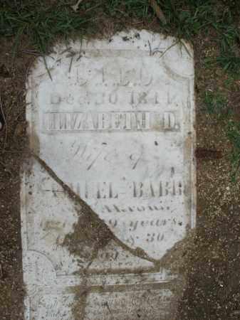 BABB, ELIZABETH D. - Madison County, Ohio | ELIZABETH D. BABB - Ohio Gravestone Photos