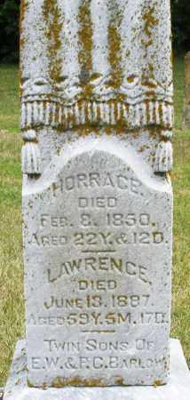 BARLOW, HORRACE - Madison County, Ohio | HORRACE BARLOW - Ohio Gravestone Photos