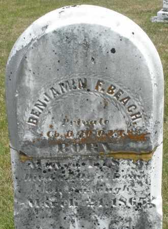 BEACH, BENJAMIN F. - Madison County, Ohio   BENJAMIN F. BEACH - Ohio Gravestone Photos