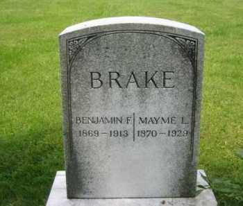 BRAKE, MAYME L. KIEFER - Madison County, Ohio | MAYME L. KIEFER BRAKE - Ohio Gravestone Photos