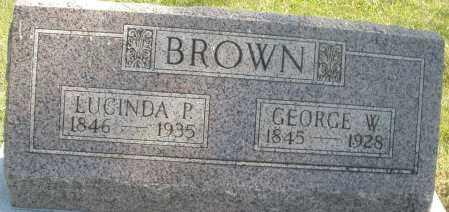 BROWN, LUCINDA P. - Madison County, Ohio   LUCINDA P. BROWN - Ohio Gravestone Photos