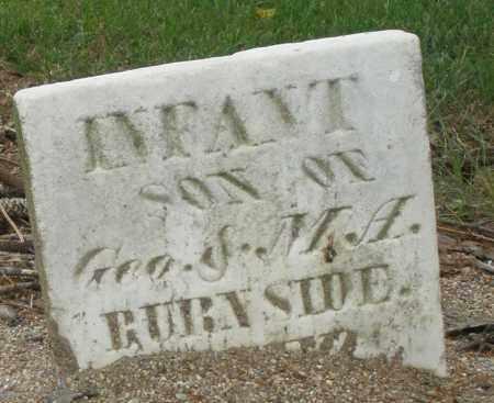 BURNSIDE, INFANT - Madison County, Ohio | INFANT BURNSIDE - Ohio Gravestone Photos