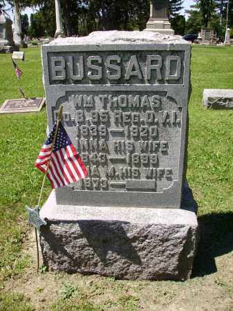 BUSSARD, WILLIAM THOMAS - Madison County, Ohio | WILLIAM THOMAS BUSSARD - Ohio Gravestone Photos