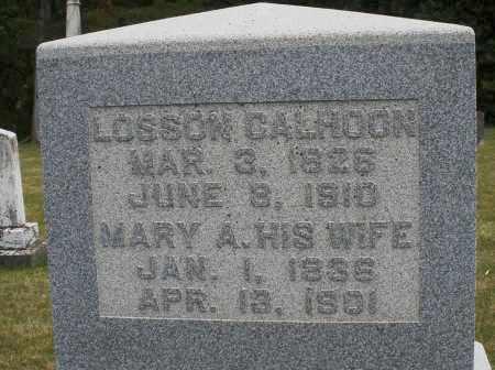 CALHOON, LOSSON - Madison County, Ohio   LOSSON CALHOON - Ohio Gravestone Photos