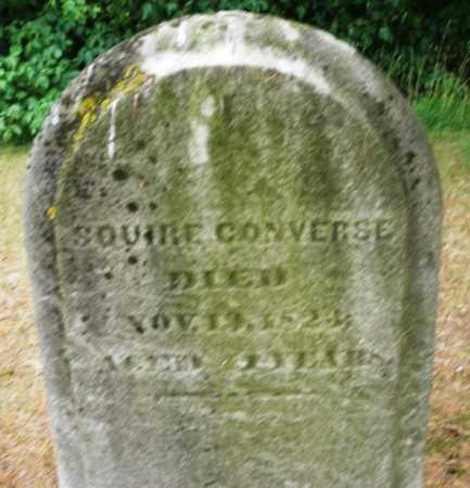 CONVERSE, SQUIRE - Madison County, Ohio | SQUIRE CONVERSE - Ohio Gravestone Photos