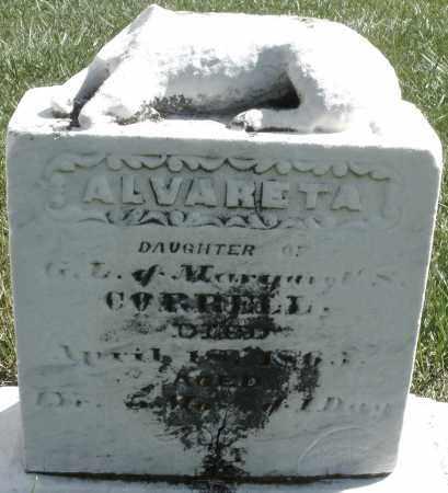 CORRELL, ALVARETA - Madison County, Ohio | ALVARETA CORRELL - Ohio Gravestone Photos