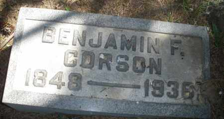 CORSON, BENJAMIN F. - Madison County, Ohio | BENJAMIN F. CORSON - Ohio Gravestone Photos
