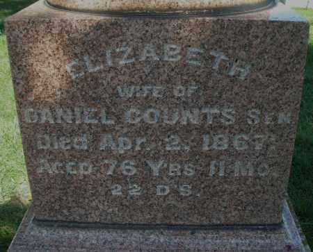 COUNTS, ELIZABETH - Madison County, Ohio | ELIZABETH COUNTS - Ohio Gravestone Photos