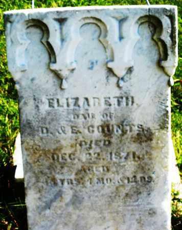 COUNTS, ELIZABETH - Madison County, Ohio   ELIZABETH COUNTS - Ohio Gravestone Photos