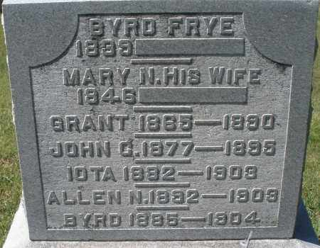FRYE, ALLEN - Madison County, Ohio | ALLEN FRYE - Ohio Gravestone Photos