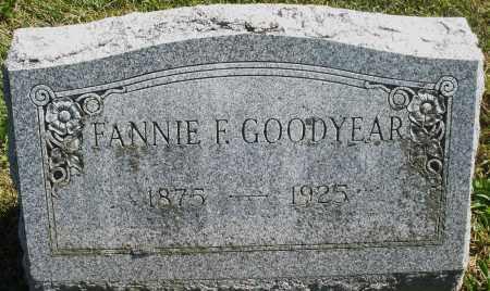 GOODYEAR, FANNIE F. - Madison County, Ohio | FANNIE F. GOODYEAR - Ohio Gravestone Photos