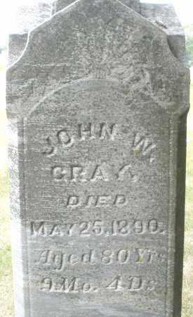 GRAY, JOHN W. - Madison County, Ohio | JOHN W. GRAY - Ohio Gravestone Photos