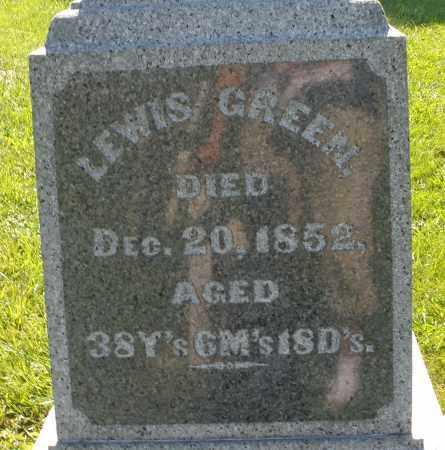 GREEN, LEWIS - Madison County, Ohio | LEWIS GREEN - Ohio Gravestone Photos