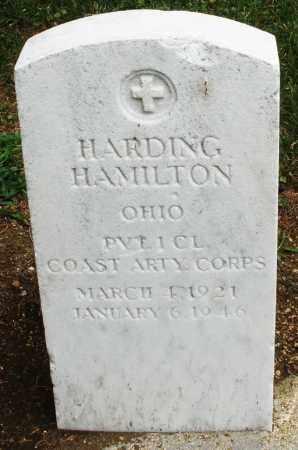 HAMILTON, HARDING - Madison County, Ohio   HARDING HAMILTON - Ohio Gravestone Photos