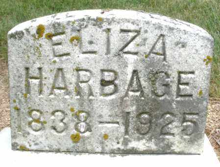 HARBAGE, ELIZA - Madison County, Ohio | ELIZA HARBAGE - Ohio Gravestone Photos
