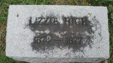 HIGH, LIZZIE - Madison County, Ohio | LIZZIE HIGH - Ohio Gravestone Photos