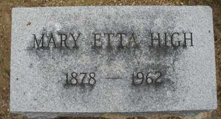 HIGH, MARY ETTA - Madison County, Ohio   MARY ETTA HIGH - Ohio Gravestone Photos