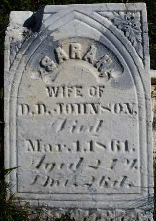 JOHNSON, SARAH - Madison County, Ohio   SARAH JOHNSON - Ohio Gravestone Photos