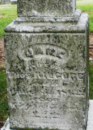 KILGORE, JANE - Madison County, Ohio | JANE KILGORE - Ohio Gravestone Photos
