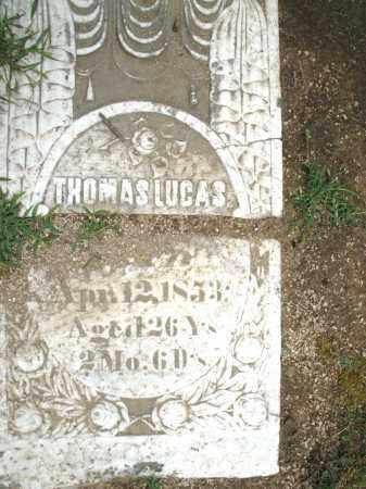 LUCAS, THOMAS - Madison County, Ohio | THOMAS LUCAS - Ohio Gravestone Photos