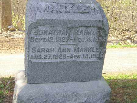 MARKLEY, SARAH ANN - Madison County, Ohio | SARAH ANN MARKLEY - Ohio Gravestone Photos