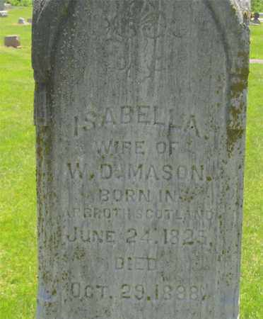 MASON, ISABELLA - Madison County, Ohio   ISABELLA MASON - Ohio Gravestone Photos