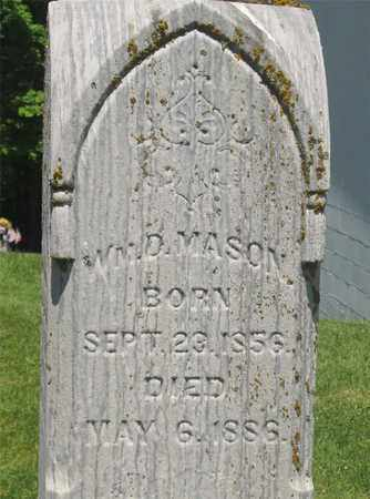 MASON, WILLIAM D. - Madison County, Ohio | WILLIAM D. MASON - Ohio Gravestone Photos