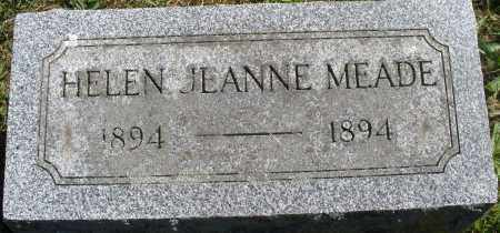 MEADE, HELEN JEANNE - Madison County, Ohio | HELEN JEANNE MEADE - Ohio Gravestone Photos