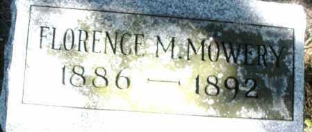 MOWERY, FLORENCE M. - Madison County, Ohio | FLORENCE M. MOWERY - Ohio Gravestone Photos