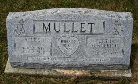 MULLET, ATLEE - Madison County, Ohio | ATLEE MULLET - Ohio Gravestone Photos
