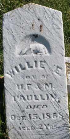 PAULLIN, WILLIE E. - Madison County, Ohio | WILLIE E. PAULLIN - Ohio Gravestone Photos