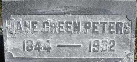GREEN PETERS, JANE - Madison County, Ohio | JANE GREEN PETERS - Ohio Gravestone Photos