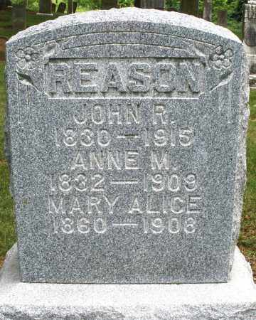 REASON, MARY ALICE - Madison County, Ohio | MARY ALICE REASON - Ohio Gravestone Photos