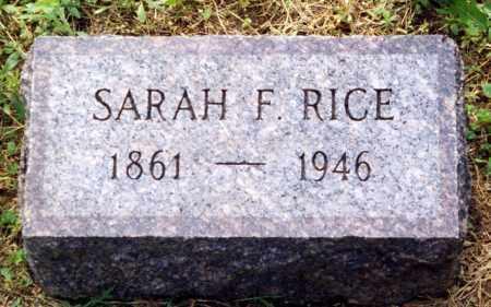 RICE, SARAH F. - Madison County, Ohio | SARAH F. RICE - Ohio Gravestone Photos