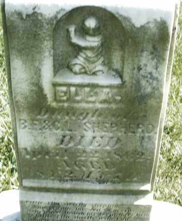 SHEPHERD, ELLA - Madison County, Ohio | ELLA SHEPHERD - Ohio Gravestone Photos