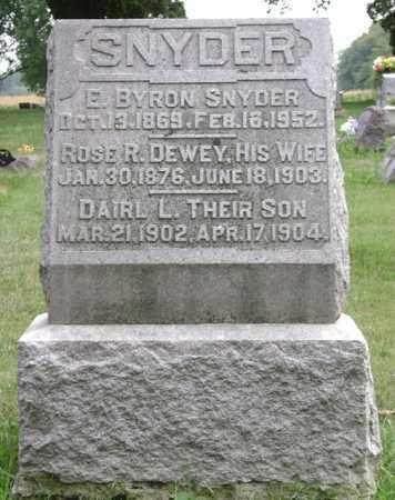 SNYDER, E. BYRON - Madison County, Ohio | E. BYRON SNYDER - Ohio Gravestone Photos