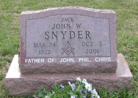 SNYDER, JOHN W. - Madison County, Ohio | JOHN W. SNYDER - Ohio Gravestone Photos