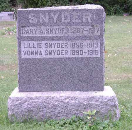 SNYDER, LILLIE - Madison County, Ohio | LILLIE SNYDER - Ohio Gravestone Photos