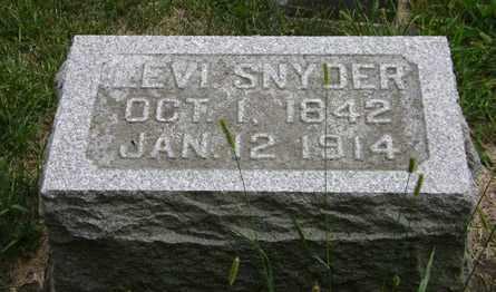 SNYDER, LEVI - Madison County, Ohio   LEVI SNYDER - Ohio Gravestone Photos